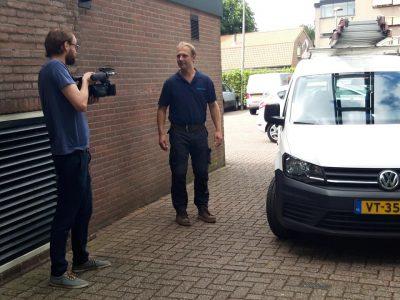 Tv opname NH Nieuws Wespenkiller Loosdrecht